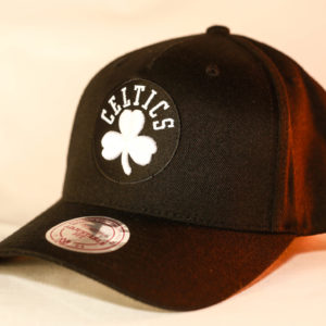 Mitchell & Ness OSFA NBA Boston Celtics Black & White Flexfit 110 Snapback