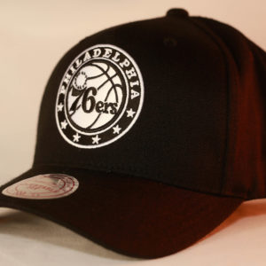 Mitchell & Ness OSFA NBA Philadelphia 76ERS Black & White Flexfit 110 Snapback