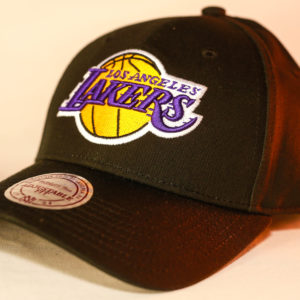 Mitchell & Ness OSFA NBA LA Lakers Black Flexfit 110 Core Low Pro Snapback