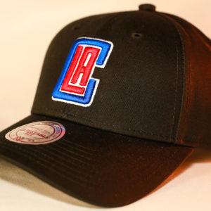Mitchell & Ness OSFA NBA LA Clippers Black Flexfit 110 Core Low Pro Snapback