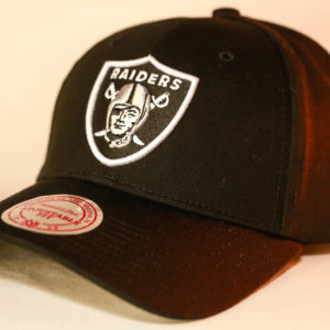 Mitchell & Ness OSFA NFL Oakland Raiders Black Flexfit 110 Core Low Pro Snapback