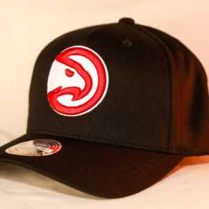 Mitchell & Ness OSFA Atlanta Hawks NBA Black Flexfit 110 Snapback