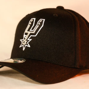 Mitchell & Ness OSFA San Antonio Spurs NBA Black Flexfit 110 Snapback