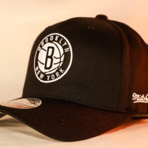 Mitchell & Ness OSFA NBA Brooklyn Nets Black Flexfit 110 Snapback
