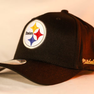 Mitchell & Ness OSFA NBA Pittsburgh Steelers Black Flexfit 110 Snapback