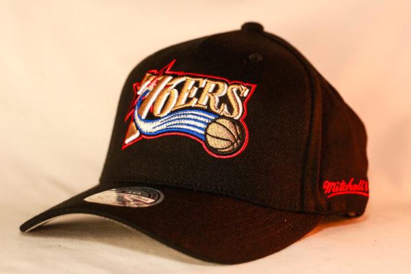 Mitchell & Ness OSFA NBA Philadelphia 76ERS Black Flexfit 110 Snapback