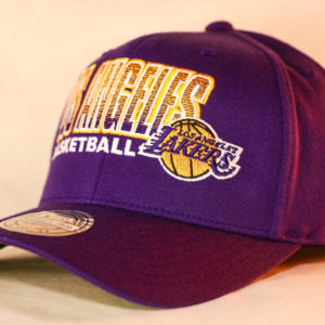 Mitchell & Ness OSFA NBA LA Lakers Purple Flexfit 110 Score Keeper Snapback