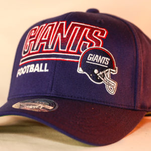Mitchell & Ness OSFA NFL New York Giants Navy Flexfit 110 Score Keeper Snapback