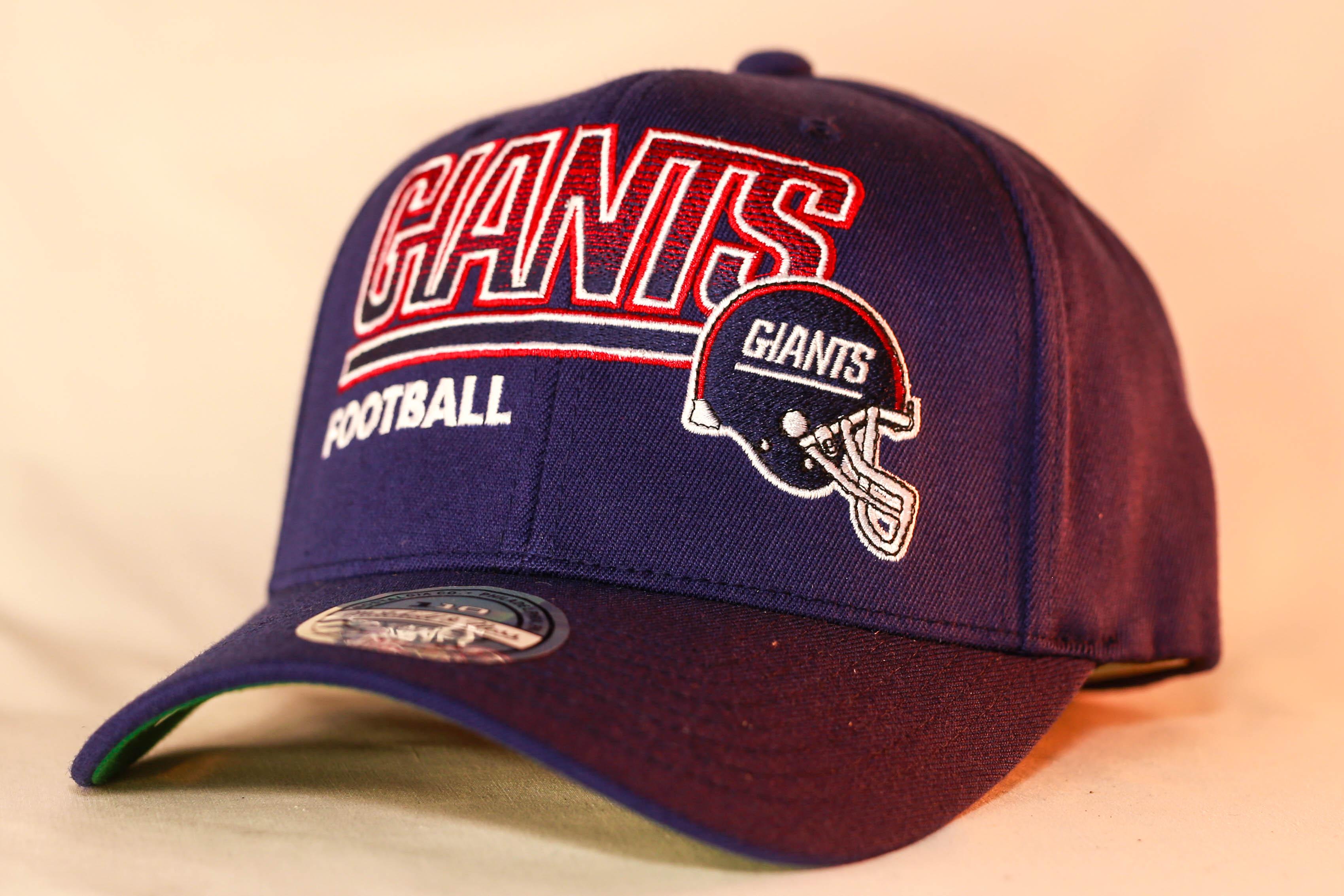 472cfeeed Mitchell & Ness Flexfit 110 Score Keeper Snapback Navy New York Giants  Men's & Women's