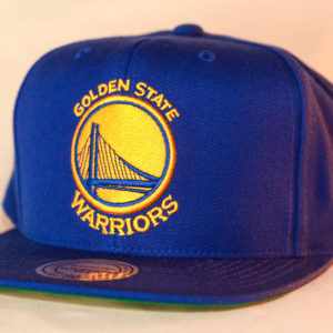 Mitchell & Ness OSFA Golden State Warriors NBA Blue Wool Solid Snapback