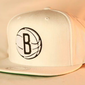 Mitchell & Ness OSFA Brooklyn Nets NBA White Wool Solid Snapback