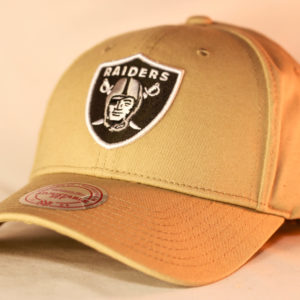 Mitchell & Ness OSFA Oakland Raiders NFL Khaki Core Low Pro Snapback