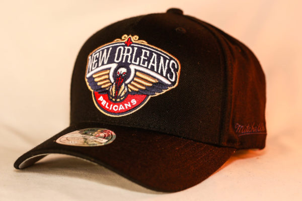 Mitchell & Ness OSFA NBA New Orleans Pelicans Black Flexfit 110 Snapback