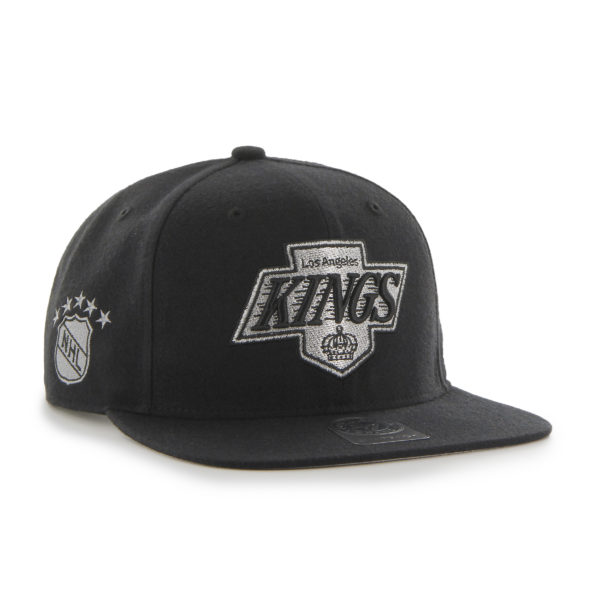 '47 LA Kings NHL Black/Silver Sure Shot Captain Mens Womens Snapback