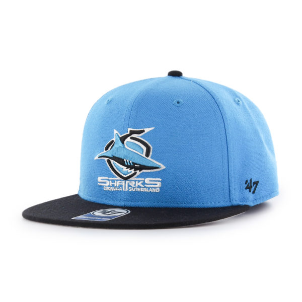 '47 Cronulla Sharks NRL Kids Lil Shot Two Tone '47 CAPTAIN Flat Brim Snapback