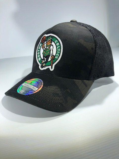promo code 43bc5 d2494 Mitchell   Ness Flexfit 110 NBA Boston Celtics Multicam Camo Snapback OSFA