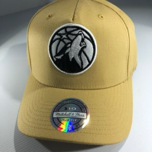 Mitchell & Ness Flexfit 110 NBA Minnesota Timberwolves Wheat Pinch Panel Snapback OSFA