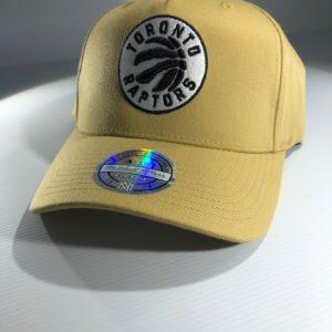 Mitchell & Ness Flexfit 110 NBA Toronto Raptors Wheat Pinch Panel Snapback OSFA