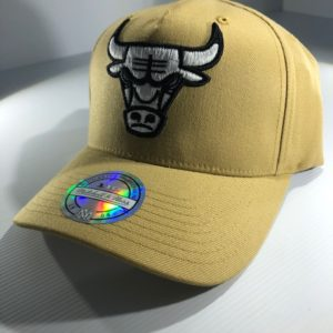 Mitchell & Ness Flexfit 110 NBA Chicago Bulls Wheat Pinch Panel Snapback OSFA