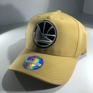 Mitchell & Ness Flexfit 110 NBA Golden State Warriors Wheat Pinch Panel Snapback OSFA