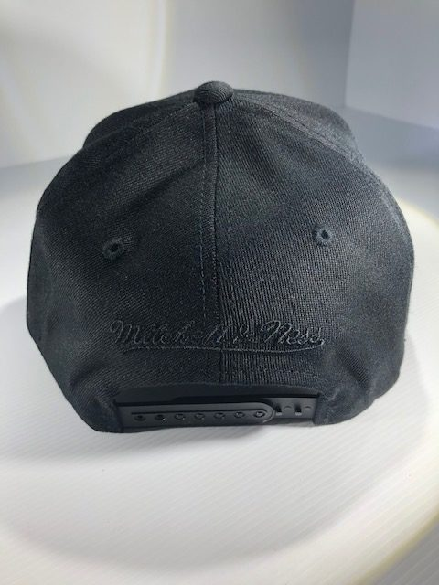 Mitchell & Ness Flexfit 110 NBA All Black Logo Snapback OSFA