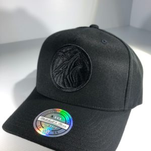 Mitchell & Ness Flexfit 110 NBA Minnesota Timberwolves All Black Logo Snapback OSFA