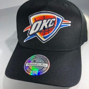 Mitchell & Ness Flexfit 110 NBA Oklahoma City Thunder The Black/Team Colour Logo Snapback OSFA