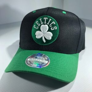 Mitchell & Ness Flexfit 110 NBA Boston Celtics Team Logo 2 Tone Snapback OSFA