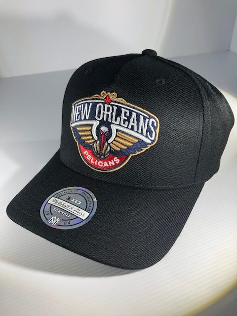 Mitchell & Ness Flexfit 110 NBA New Orleans Pelicans The Black/Team Colour Logo Snapback OSFA