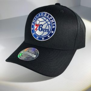 Mitchell & Ness Flexfit 110 NBA Philadelphia 76ers The Black/Team Colour Logo Snapback OSFA