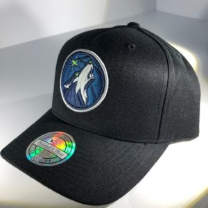 Mitchell & Ness Flexfit 110 NBA Minnesota Timberwolves The Black/Team Colour Logo Snapback OSFA