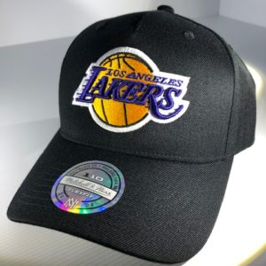 Mitchell & Ness Flexfit 110 NBA LA Lakers The Black/Team Colour Logo Snapback OSFA