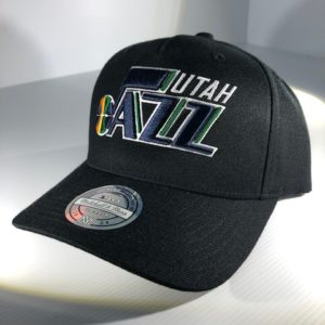 Mitchell & Ness Flexfit 110 NBA Utah Jazz The Black/Team Colour Logo Snapback OSFA
