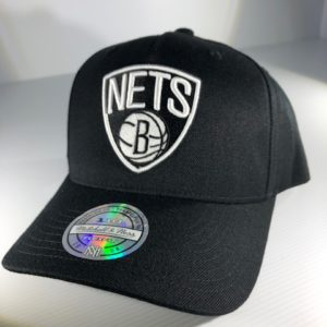 Mitchell & Ness Flexfit 110 NBA Brooklyn Nets The Black/Team Colour Logo Snapback OSFA