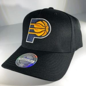 Mitchell & Ness Flexfit 110 NBA Indiana Pacers The Black/Team Colour Logo Snapback OSFA