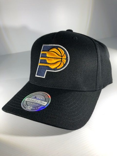 first rate b56ee df8d6 Mitchell & Ness Flexfit 110 NBA Indiana Pacers The Black/Team Colour Logo  Snapback OSFA Men's & Womens