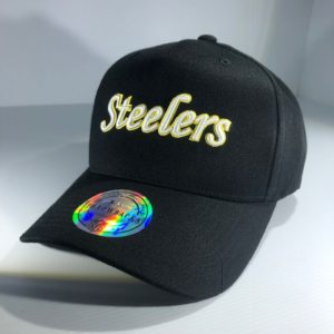 Mitchell & Ness NFL Pittsburgh Steelers Throwback Black/Team Colour Logo Snapback OSFA